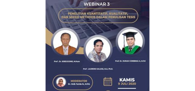 Webinar 3 Program Pascasarjana Universitas Kanjuruhan Malang