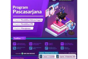 Penerimaan Mahasiswa Baru program Pascasarjana Tahun 2020